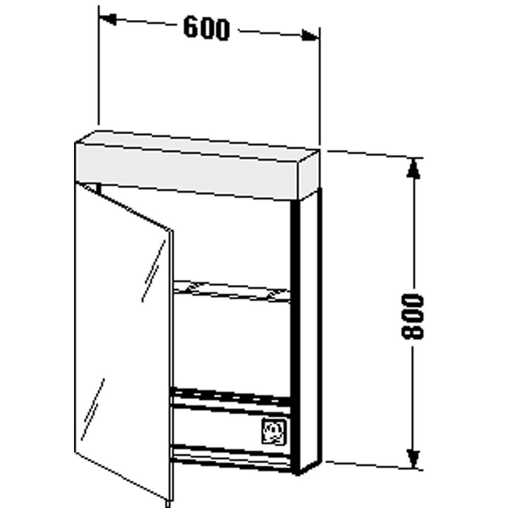 Duravit   VE7500L0000   Mirror Cabinet Vero 31 1/2u0027u0027x23 5/8u0027u0027x5 5/8u0027u0027