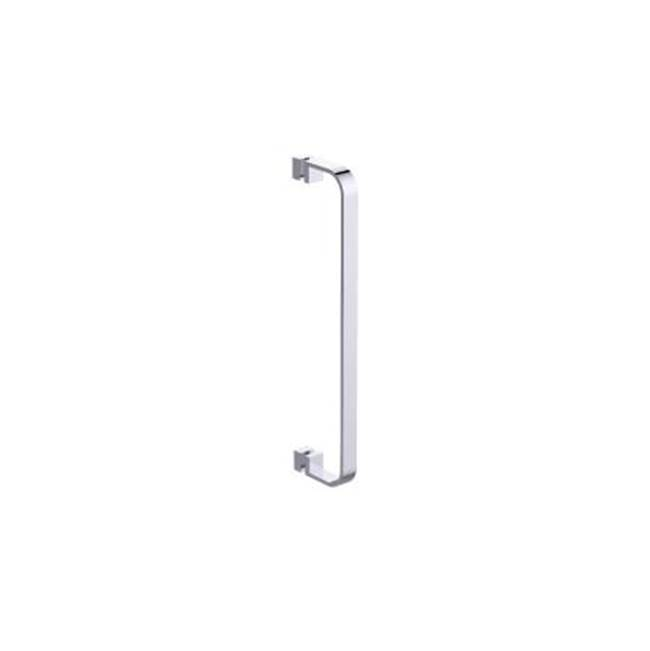 Jaclo H60-FM-18-PN Smooth Front-Mount Shower Door Handle with End Caps Polished Nickel